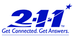 Connect to the 2-1-1 helpline.